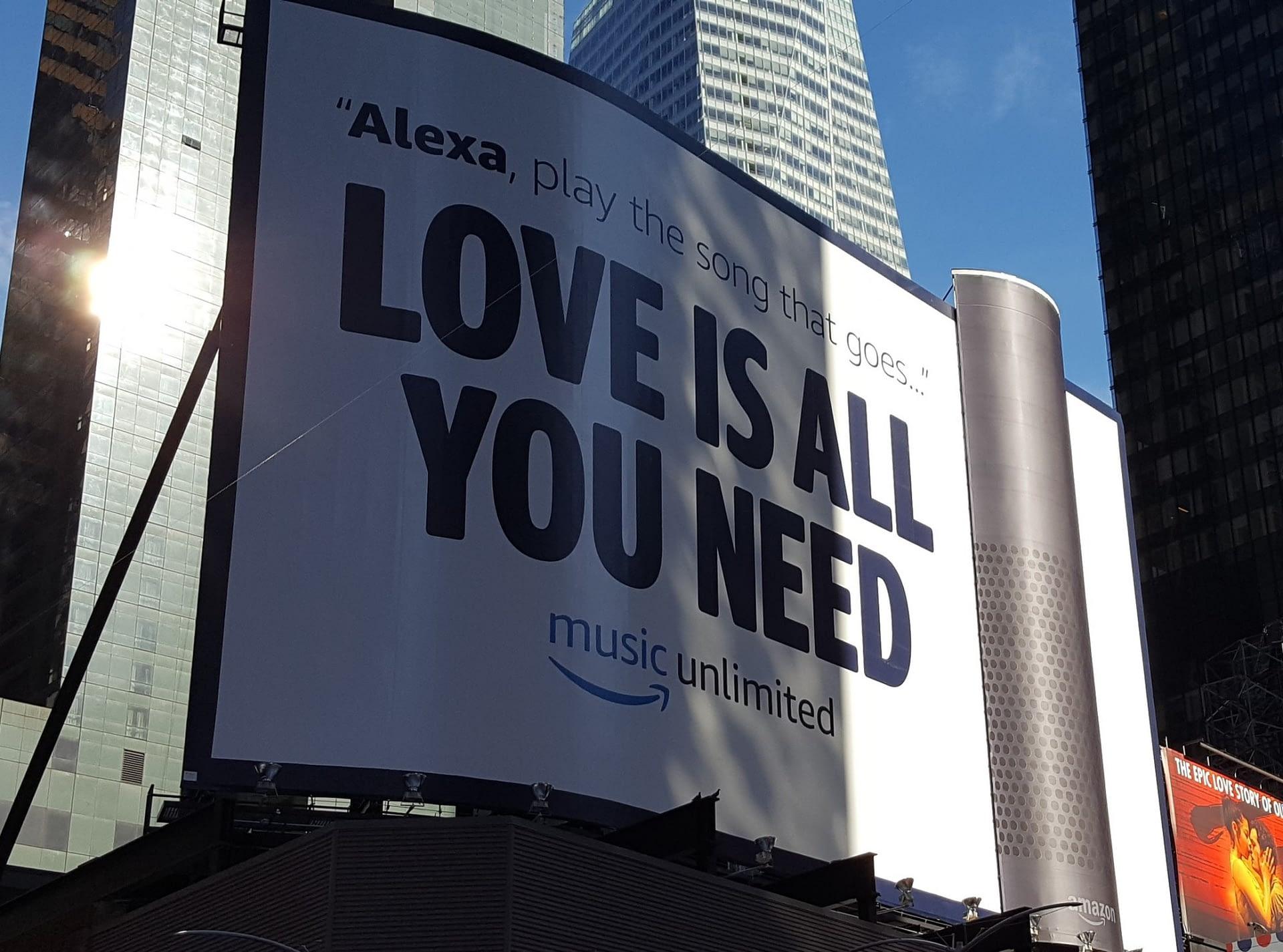 Amazon Echo Billboard